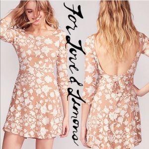 NWT For Love and Lemons Temecula Mini Dress Nude M